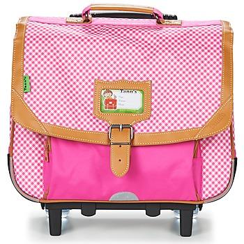 Τσάντες Κορίτσι Σχολικές τσάντες με ροδάκια Tann's LES CHICS FILLES TROLLEY CARTABLE 38CM Ροζ