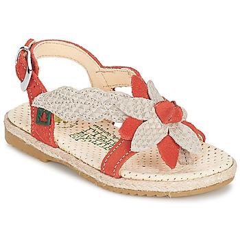 Παπούτσια Κορίτσι Σανδάλια / Πέδιλα El Naturalista SAMOA Orange / ECRU