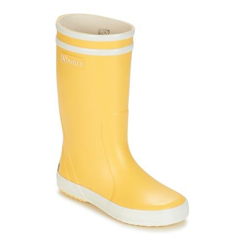 Παπούτσια Παιδί Μπότες βροχής Aigle LOLLY POP Yellow / Άσπρο