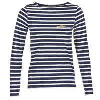 Υφασμάτινα Γυναίκα Μπλουζάκια με μακριά μανίκια Betty London FLIGEME Marine / Άσπρο