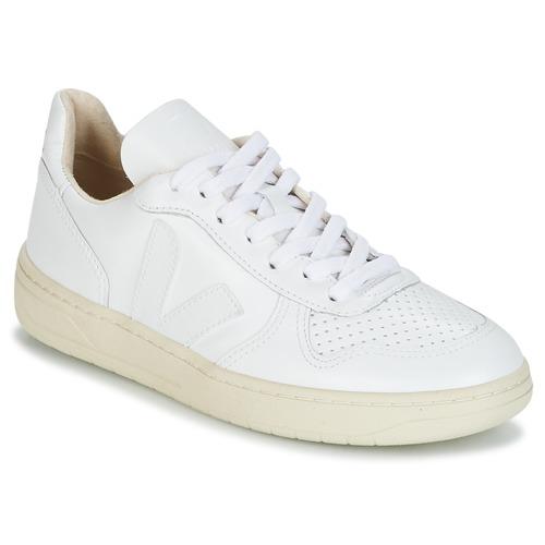 Παπούτσια Χαμηλά Sneakers Veja V-10 Άσπρο