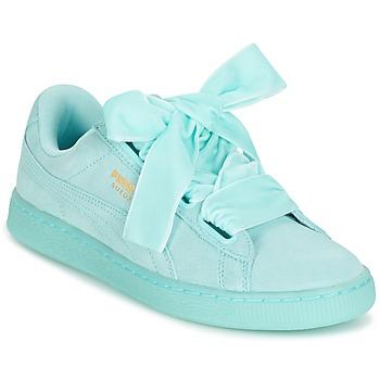 Παπούτσια Γυναίκα Χαμηλά Sneakers Puma WNS SUEDE HEART RESET.BLUE μπλέ / Pastel