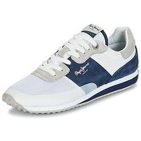 Παπούτσια Άνδρας Χαμηλά Sneakers Pepe jeans GARRET SAILOR Άσπρο / Μπλέ