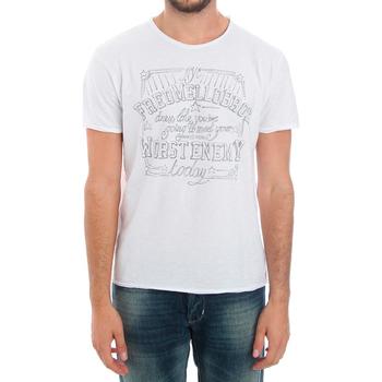 T-shirt με κοντά μανίκια Fred Mello FMCLA99TG_BIANCO