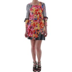 Υφασμάτινα Γυναίκα Κοντά Φορέματα Rinascimento 1330/13A_BIANCO Estampado