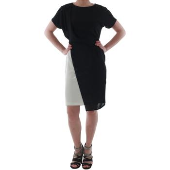 Υφασμάτινα Γυναίκα Κοντά Φορέματα Rinascimento MIRANDA_BIANCO Negro