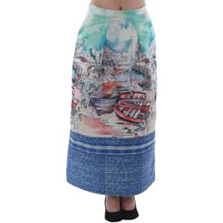 Υφασμάτινα Γυναίκα Φούστες Rinascimento 4004/16_CELESTE Estampado