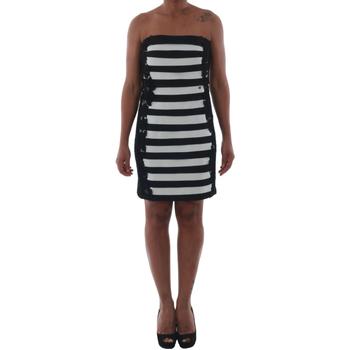 Υφασμάτινα Γυναίκα Κοντά Φορέματα Rinascimento 322B.012_BIANCO Negro