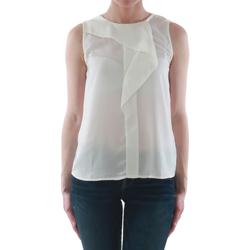 Υφασμάτινα Γυναίκα Αμάνικα / T-shirts χωρίς μανίκια Sz Collection Woman WCS_1233_WHITE Blanco roto