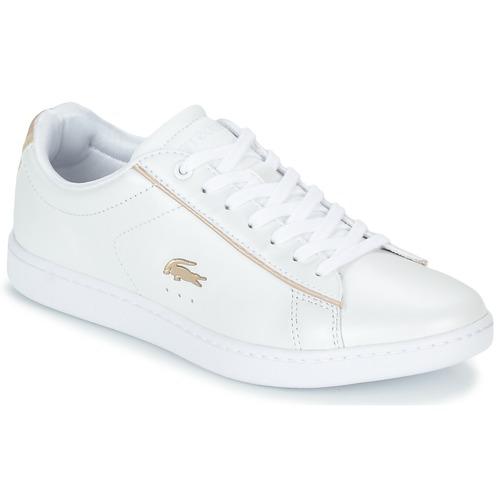 Παπούτσια Γυναίκα Χαμηλά Sneakers Lacoste CARNABY EVO 118 6 Άσπρο