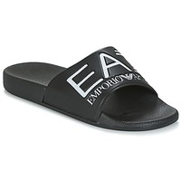 Παπούτσια σαγιονάρες Emporio Armani EA7 SEA WORLD VISIBILITY M SLIPPER Black / Άσπρο