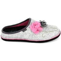 Παπούτσια Γυναίκα Παντόφλες Fargeot Shannon Gris Rose Grey