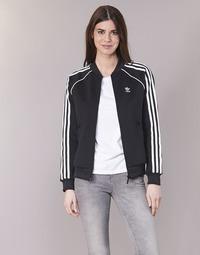 Υφασμάτινα Γυναίκα Σπορ Ζακέτες adidas Originals SST TT Black