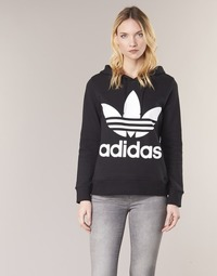 Υφασμάτινα Γυναίκα Φούτερ adidas Originals TREFOIL HOODIE Black