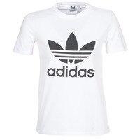 Υφασμάτινα Γυναίκα T-shirt με κοντά μανίκια adidas Originals TREFOIL TEE Άσπρο