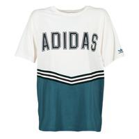 Υφασμάτινα Γυναίκα T-shirt με κοντά μανίκια adidas Originals ADIBREAK SS TEE Άσπρο / Marine