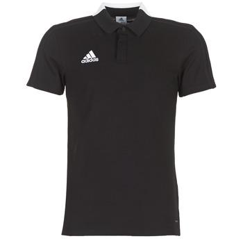 Υφασμάτινα Άνδρας Πόλο με κοντά μανίκια  adidas Performance CON18 CO POLO Black
