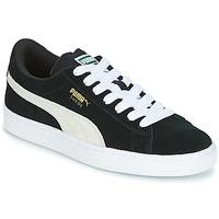 Παπούτσια Παιδί Χαμηλά Sneakers Puma SUEDE JR Black / Άσπρο