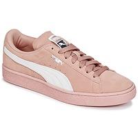 Παπούτσια Γυναίκα Χαμηλά Sneakers Puma SUEDE CLASSIC W'S Ροζ / Άσπρο