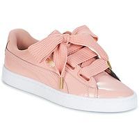 Παπούτσια Γυναίκα Χαμηλά Sneakers Puma BASKET HEART PATENT W'S Ροζ