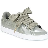 Παπούτσια Γυναίκα Χαμηλά Sneakers Puma BASKET HEART PATENT W'S Grey