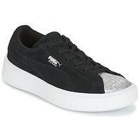 Παπούτσια Κορίτσι Χαμηλά Sneakers Puma SUEDE PLATFORM GLAM PS Black / Silver