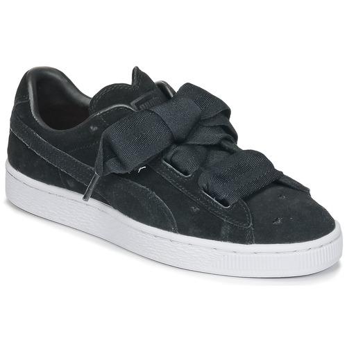 Παπούτσια Κορίτσι Χαμηλά Sneakers Puma SUEDE HEART VALENTINE JR Black