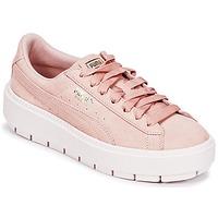 Παπούτσια Γυναίκα Χαμηλά Sneakers Puma SUEDE PLATFORM TRACE W'S Beige