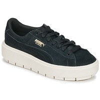 Παπούτσια Γυναίκα Χαμηλά Sneakers Puma SUEDE PLATFORM TRACE W'S Black / Άσπρο