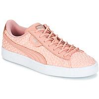 Παπούτσια Γυναίκα Χαμηλά Sneakers Puma BASKET SATIN EP WN'S Peche