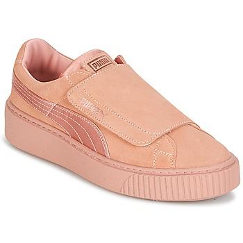 Παπούτσια Γυναίκα Χαμηλά Sneakers Puma PLATFORMSTRAP SATIN EP W'S Ροζ