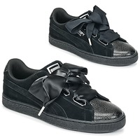 Παπούτσια Γυναίκα Χαμηλά Sneakers Puma SUEDE HEART BUBBLE W'S Black