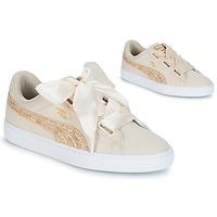 Παπούτσια Γυναίκα Χαμηλά Sneakers Puma BASKET HEART CANVAS W'S Beige