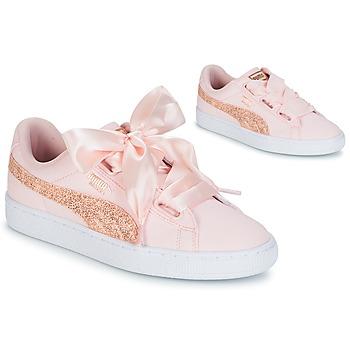 Παπούτσια Γυναίκα Χαμηλά Sneakers Puma BASKET HEART CANVAS W'S Ροζ