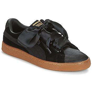 Παπούτσια Γυναίκα Χαμηλά Sneakers Puma BASKET HEART VS W'N Black