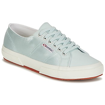 Παπούτσια Γυναίκα Χαμηλά Sneakers Superga 2750 SATIN W Μπλέ / Silver