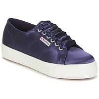 Παπούτσια Γυναίκα Χαμηλά Sneakers Superga 2730 SATIN W Marine