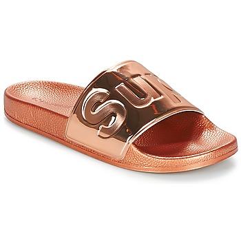 Παπούτσια Γυναίκα Τσόκαρα Superga 1908 PUNE TU Ροζ / Χρυσο