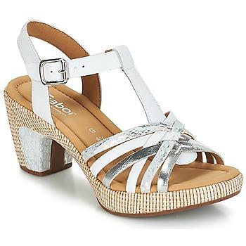 Παπούτσια Γυναίκα Σανδάλια / Πέδιλα Gabor MASTIAR Άσπρο / Argenté