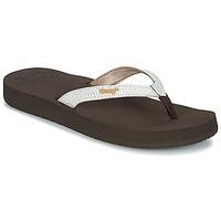 Παπούτσια Γυναίκα Σαγιονάρες Reef STAR CUSHION SASSY Brown / Άσπρο