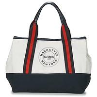 Τσάντες Γυναίκα Cabas / Sac shopping Superdry BAYSHORE BEACH TOTE Άσπρο / Marine / Red