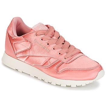 Παπούτσια Γυναίκα Χαμηλά Sneakers Reebok Classic CLASSIC LEATHER SATIN Ροζ