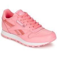 Παπούτσια Κορίτσι Χαμηλά Sneakers Reebok Classic CLASSIC LEATHER SPRING Ροζ