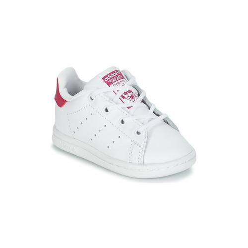 Παπούτσια Κορίτσι Χαμηλά Sneakers adidas Originals STAN SMITH I Άσπρο / Ροζ