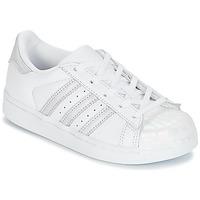 Παπούτσια Κορίτσι Χαμηλά Sneakers adidas Originals STAN SMITH C Άσπρο / Silver
