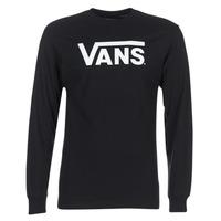 Υφασμάτινα Άνδρας Μπλουζάκια με μακριά μανίκια Vans VANS CLASSIC Black