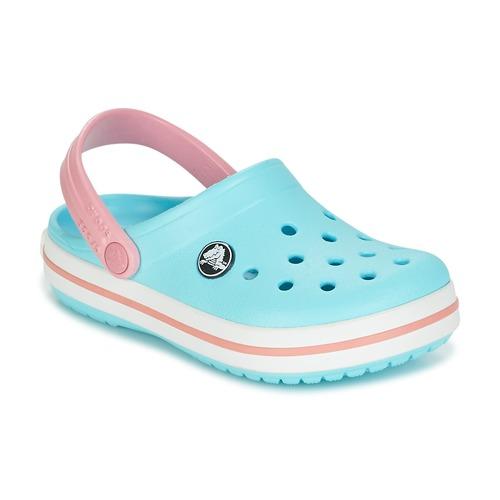 Παπούτσια Κορίτσι Σαμπό Crocs Crocband Clog Kids Μπλέ / Ροζ
