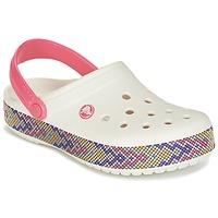 Παπούτσια Γυναίκα Σαμπό Crocs CROCBAND GALLERY CLOG Άσπρο / Ροζ
