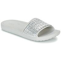Παπούτσια Γυναίκα σαγιονάρες Crocs SLOANE GRAPHIC ETCHED SLIDE W Άσπρο / Argenté