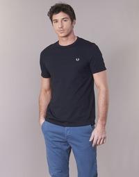 Υφασμάτινα Άνδρας T-shirt με κοντά μανίκια Fred Perry RINGER T-SHIRT Marine